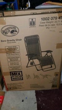 Zero Gravity BRAND NEW Chairs $35 each or $110 for Garland, 75040