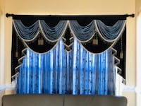 Two black and blue window curtains it's really expensive and fancy looking Waldorf, 20602