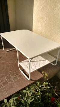 White Ikea table 39 L x 24 D x 16 H 2276 mi