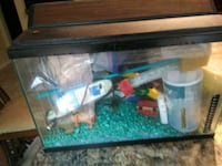 black framed clear glass fish tank University Park, 60484