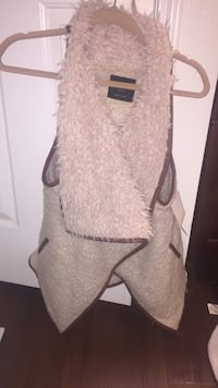 White and brown vest  Brand New!