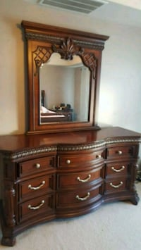 Real Solid Cherry Oak dresser with mirror Bristow, 20136