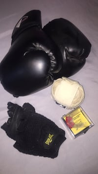 Boxing gloves, hand/wrist wraps, grip gloves & mouthguard (never used) London, N6B 4N5