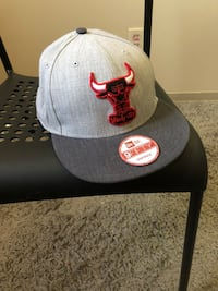 gray Chicago Bulls fitted cap