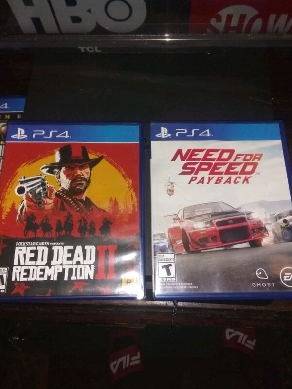 Sold Ps4 Red Dead Redemption 2 Need For Speed Payback In Laredo