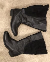 Zara leather boots, size 4, barely used North Vancouver, V7R 2M6