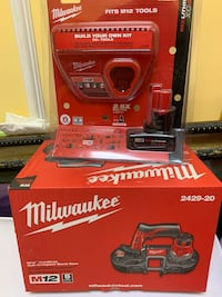 Milwaukee Bandsaw  M12 Lithium-Ion Cordless  XC4.0 and charge  New