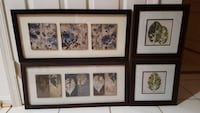 4 pieces of framed artwork with glass Sterling