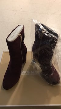 Pair of maroon michael kors boots Guelph, N1E 6W8
