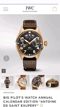 round gold-colored chronograph watch with brown le Aliso Viejo, 92656