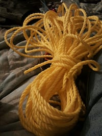 yellow braided rope