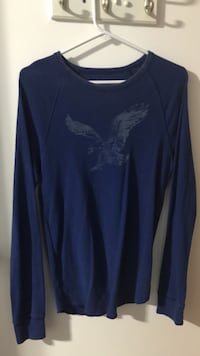 Men's blue American eagle long sleeve shirt