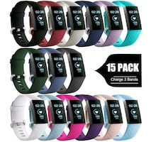 GEAK for Fitbit Charge 3 Bands 15 Pack