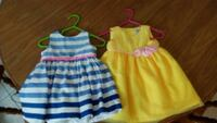 toddler's two blue and yellow sleeveless dresses Leonardtown, 20650