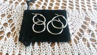 "2 pairs Stainlees Steel Hoops Earrings 8"" // 10"" ! Manassas, 20110"