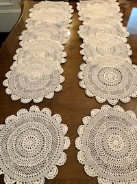 12 Antique Crochet Doilies