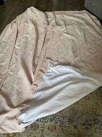 set of 2 light pink DKNY curtains