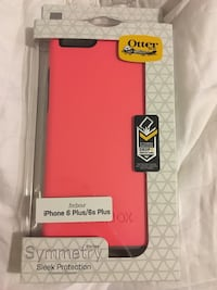Red and black otterbox smartphone case