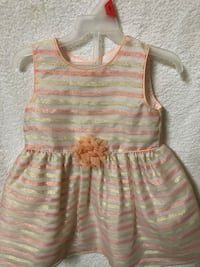 PEACH AND GOLD TODDLER DRESS Jackson, 39212