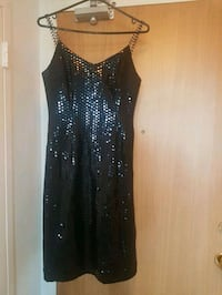 Black sequin dress with bling straps,, size 8. Toronto, M4S 1C9