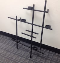 Candle holder steel framed wall mounted