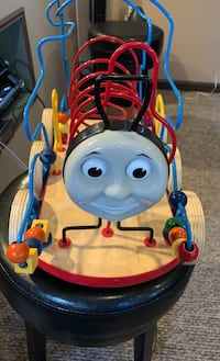 Thomas the train wooden bead coaster