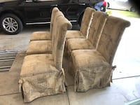 two brown wooden framed armchairs Elk Grove, 95758