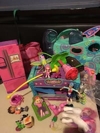 assorted colors of toy lot