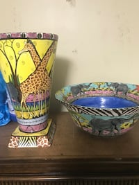 Hand painted vase/bowl from Africa