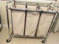 3 bag laundry basket on wheels  Alexandria, 22314