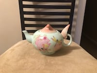 white and pink floral ceramic pitcher Jacksonville