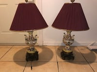 two brown table lamps with brown lampshades 758 mi