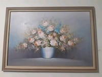 brown wooden framed painting of flowers Surrey, V3W 1L1