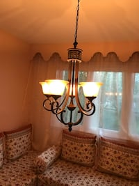 brown and white uplight chandelier Dollard-des-Ormeaux, H9A 1W2