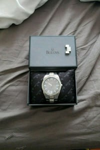 round silver-colored analog watch with box Whitchurch-Stouffville, L4A 7X3