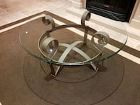 Cast iron glass coffe table