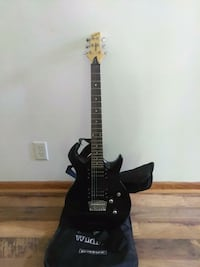 black and brown electric guitar Decatur, 62526