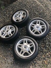 1 set mini copper run flat tires on rims - rims are in good shape by all accounts - great shape for $300!!  Surrey, V4A
