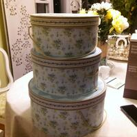three white and green floral boxes set Owosso, 48867