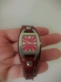 Original woman FOSSIL watch with leather stripe Montréal, H3H 1E1