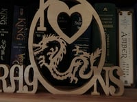 """Hand made scrollwork """"l Love Dragons """" Bacliff, 77518"""