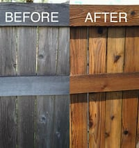 Wood fence cleaning and treatment Fresno, 93703