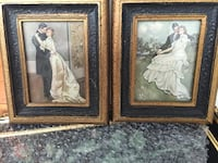 Miniature antique pair of framed prints Hampstead, H3X 3G3