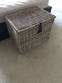 brown wicker basket with lid Bethesda, 20814