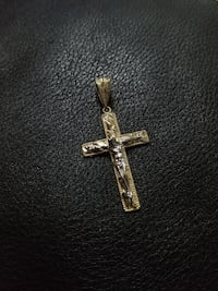 Brand New 10k Yellow Gold Jesus Crucifix Pendant Burnaby