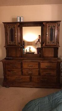 brown wooden dresser with mirror Annandale, 22003