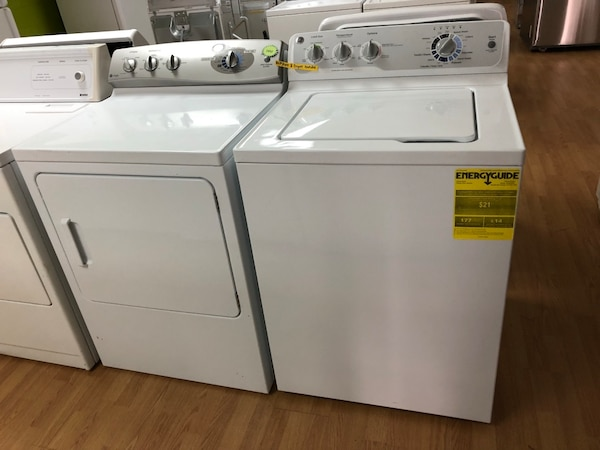 GE white washer and dryer bundle