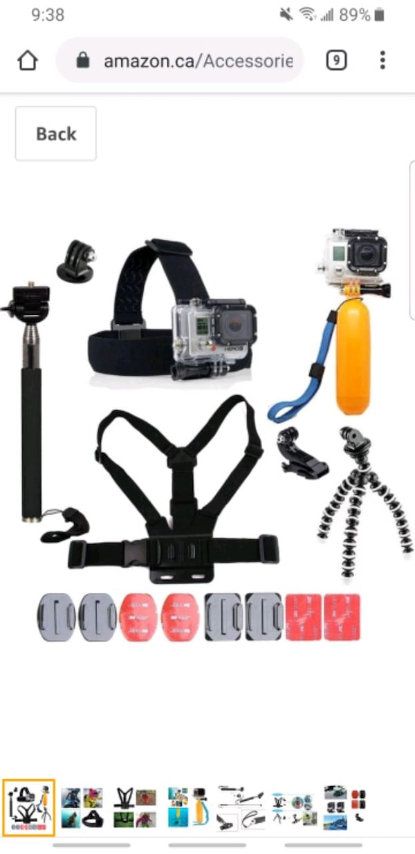 Gopro hero 4 + many accessories and original box 4802d31f-7112-4e7d-b0a7-63c2a9e7d944