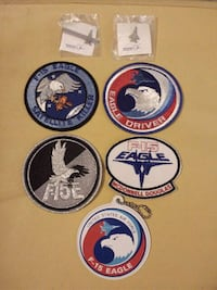 F15 Eagle pin, tie clip, luggage tag, and patches Louisville, 40206