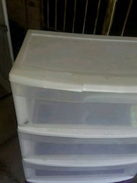 white plastic 3-drawer chest McAllen